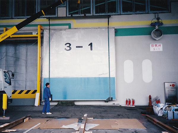 青酸ガス燻蒸倉庫施工